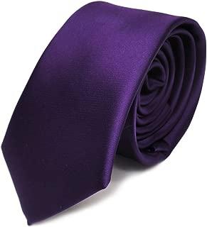schmale Designer Satin Krawatte uni einfarbig in verschiedenen Farben
