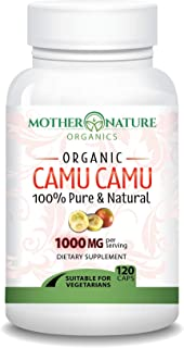 Madre Nature - Organic Camu Camu Berry Capsules - Max Strength 1000mg Per Serving - Natural Vitamin C - Fre...