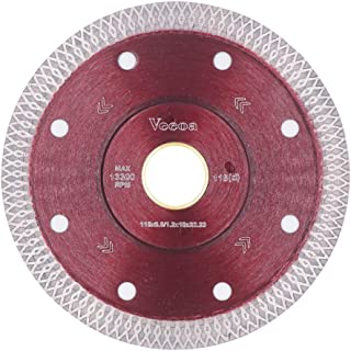 Vceoa 4.5 Inch Super Thin Diamond Saw Blade for Cutting Porcelain Tiles,Granite Marble Ceramics (4.5