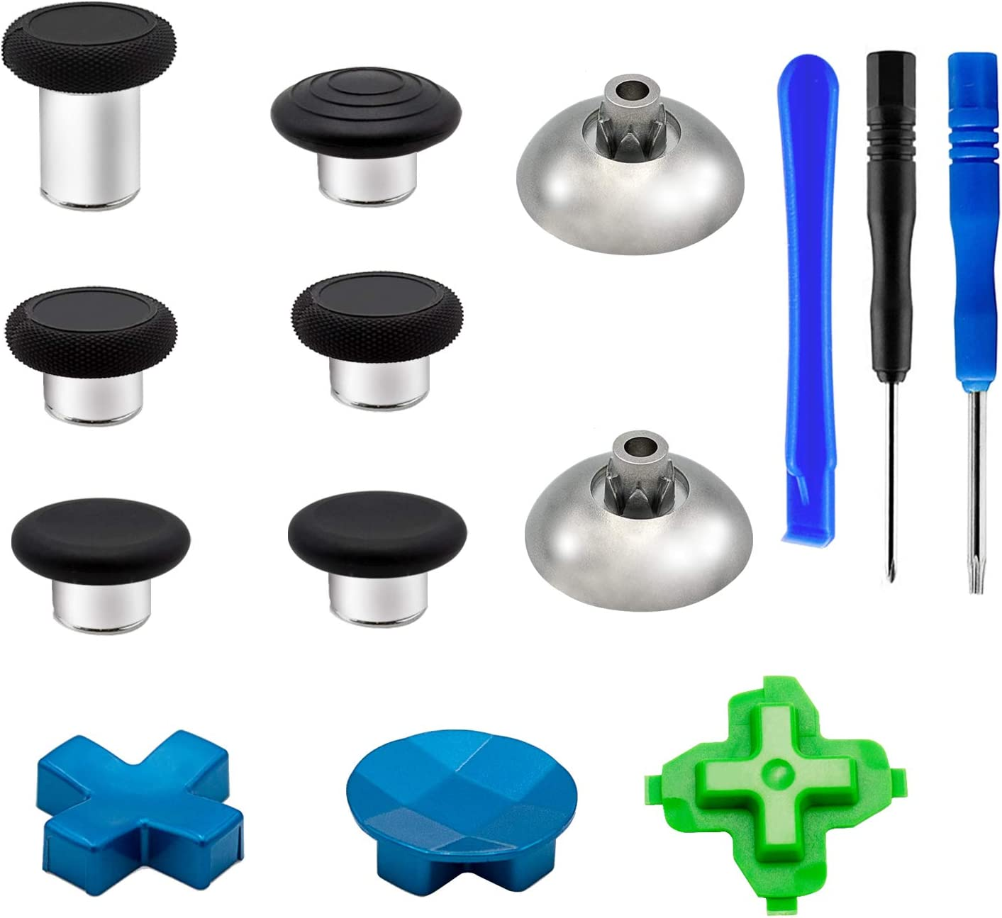 Free shipping anywhere in the nation Max 55% OFF 6 Metal Analog Thumbsticks 2 Magnetic 3 Base D-Pads Kits Re and