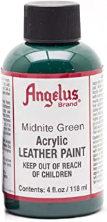 Angelus Leather Paint 4 Oz Midnight Green