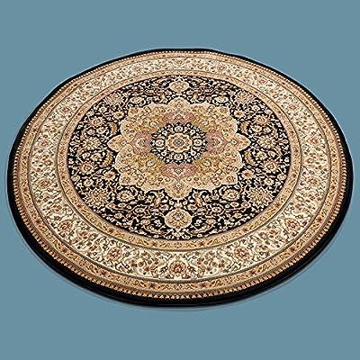 Asiatische Teppiche Chinateppich Handgeknüpft Blumen Rundteppich Durchmesser 250 Cm Weniger Teuer