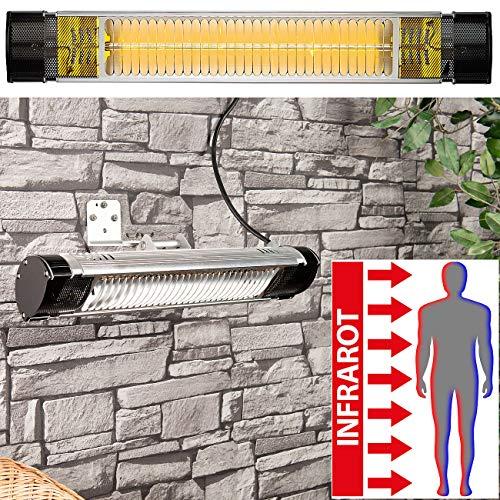 Semptec Urban Survival Technology IR Heizstrahler: Infrarot-Außen-Heizstrahler IRW-2000 mit Goldröhre, 2.000 Watt, IP65 (Elektrischer Heizstrahler)