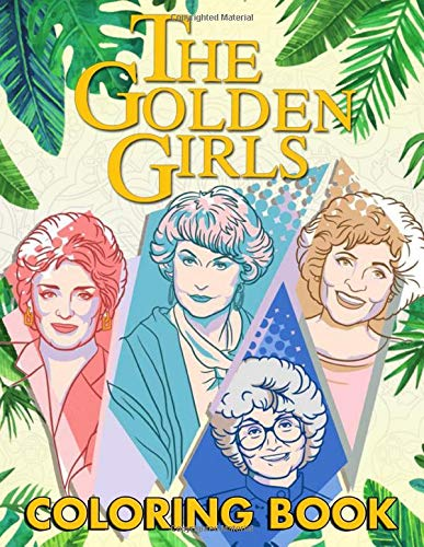 Golden Girls 80s TV Show Coloring Book for Adults, Paperback (50 pages)