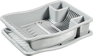 CURVER   Egouttoir à vaisselle + plateau PM - 18 assiettes, Gris, Sink Top, 29x10,5x39 cm