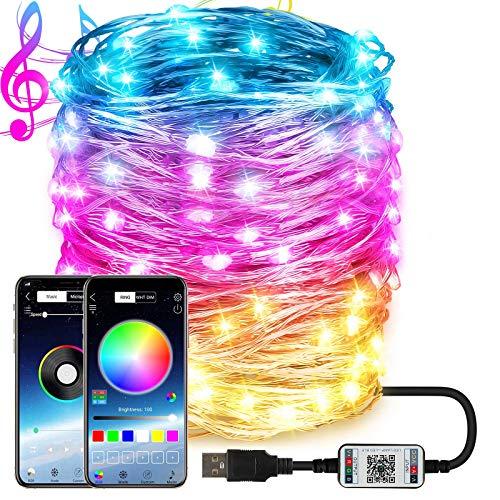 Dcola 20 Metri Lucine LED Decorative Stringa Luci LED Smart Controllo da APP 16 Milioni Colori 29 Modalità Musica Luci...