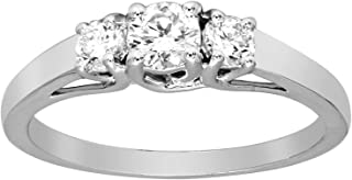 Best three stone lab created diamond ring Reviews