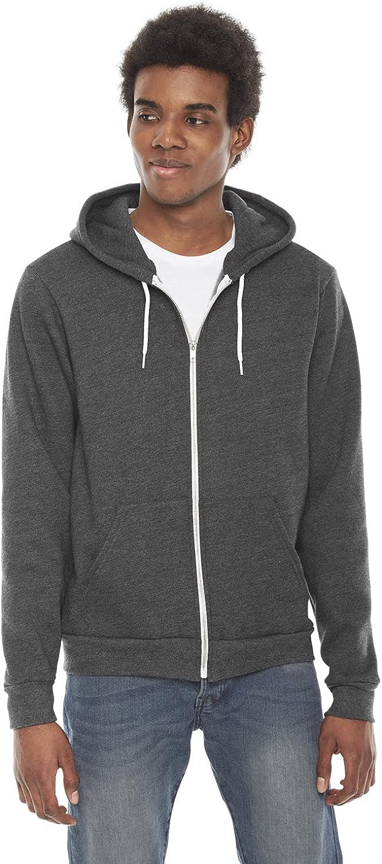 American Apparel Men's 5 popular Flex Fleece Long Zip Rare Sleeve Hoodie F497