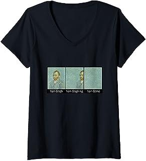 Femme Funny Art Painting - Van Gogh Van Goghing Van Gone T-Shirt avec Col en V