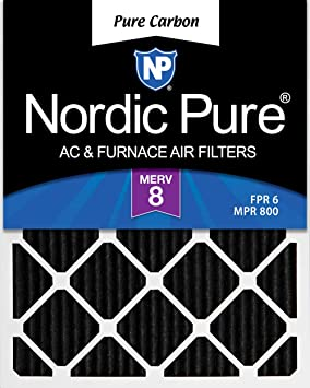 Nordic Pure 13x20x1 Exact MERV 12 Pleated AC Furnace Air Filters 2 Pack