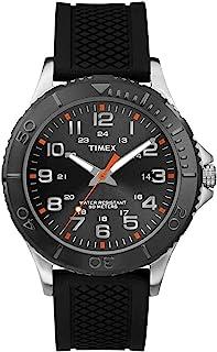 Timex Men's TW2P87200 Taft Street Black Silicone Strap Watch