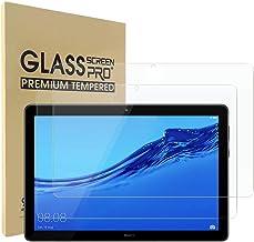Simpeak [2pcs] 2-Packs Cristal Templado para Huawei Mediapad T5 10, Protector de Pantalla Huawei Mediapad T5 10 10.1 2018 Premium Protección Complet Bubble Free/HD Clear - Transparente