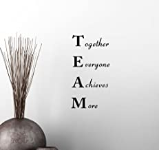 YttBuy Wall Vinyl Decal Sticker Team Together Everyone Achieves More Classroom Sport Football Cute Inspirational Family Love Vinyl Quote Saying Wall Art Lettering Sign Room Decor