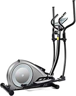 GOPLUS Elliptical Machine, Portable Magnetic Elliptical Trainer Cardio Fitness Workout Machine Smooth Quiet Driven with Digital Monitor Display and Pulse Rate Grips, for Home Office Gym
