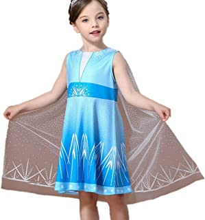 Tsyllyp Princess Costumes for Girls Halloween Birthday Party Dress Up with Cape