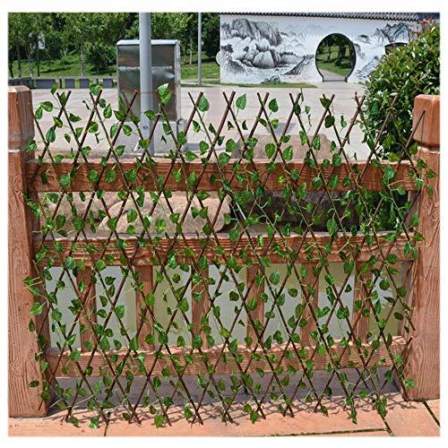 YOGANHJAT Celosia Madera Extensible Madera Pared Enrejado expansión jardín Resistente para Plantas...