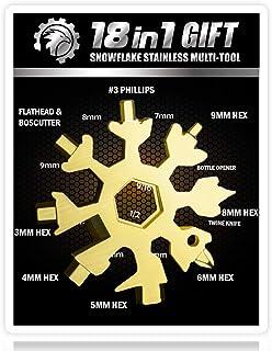 Saker 18-in-1 Snowflake Multi-Tool,AMENITEE 18 In 1 Incredible Tool – Easy N Genius - Saker 18-in-1 Stainless Steel Snowfl...