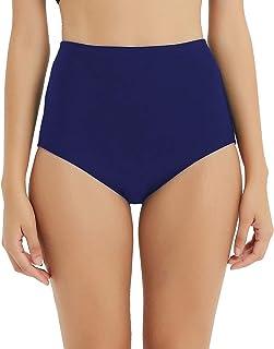 Dovio UPF 50+ Women's Swim Bottom High Waist Basic Full Coverage Bikini Tankini Swimsuit Briefs