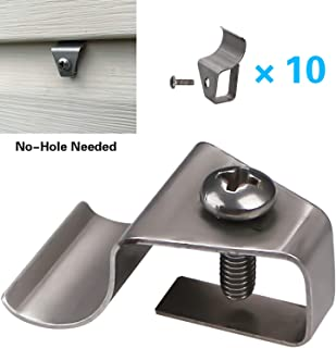 No-Hole Needed Vinyl Siding Clips Hooks Hanger for Hang Solar Powered Lights on Vinyl Siding with No Nails No Drilling, Easy Removal (10 Pack)