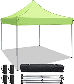 Greesum Patio Pop up Canopy Tent Commercial Instant Shelter with Wheeled Carry Bags Bundle