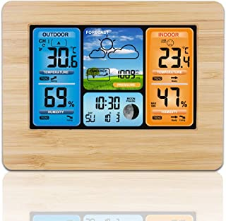 ALLOMN Wireless Weather Station with Color High Definition Display Indoor Outdoor Digital..