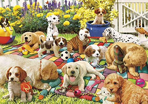 Buffalo Games - Adorable Animals - Puppy Playground - 300 Large Piece Jigsaw Puzzle
