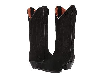 Dan Post Lana (Black Suede) Cowboy Boots