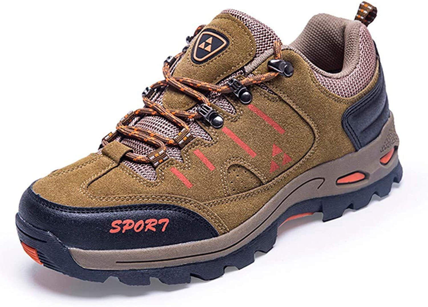 Dsx Hiking shoes Men Mountain Climbing shoes Trekking Waterproof Breathable Sneakers Hiking shoes Men's shoes, brown, 9.5UK