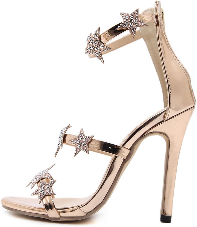 Believed Women's Classic Ankle Elegance Platform Lady Heels   Open Toe High Heel - Sexy Sandal