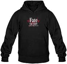 XIULUAN Men's Fate Stay Night UBW Logo Hooded Sweatshirt XXL Dark Grey