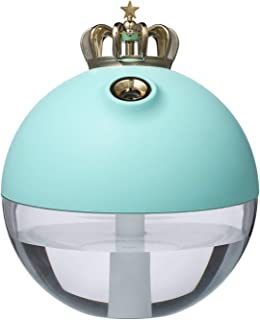 YIYINGSI Luchtbevochtigers,320Ml Draagbare Kroon Luchtbevochtiger Aroma Essentiële Olie Diffuser Usb Oplaadbare Batterij A...