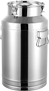 Seau à lait en acier inoxydable 304, seau à vin, seau fourre-tout, pour le stockage de lait et de vin (42 L)
