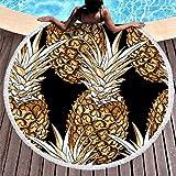 EUNNT Roundie Circle Strandtuch Ananas Obst Strand Überwurf für Pool Sonnenliege...