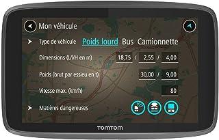 TomTom GPS Poids Lourds GO Professional 6250 - 6 pouces, Cartographie Europe 49, Trafic via Carte SIM Incluse