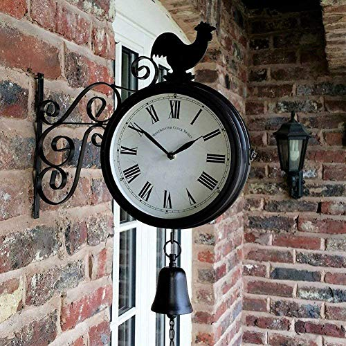 Outdoor Garten Wandstation Uhr Doppelseitige Cockersel Vintage Retro Wohnkultur 31 * 38 cm