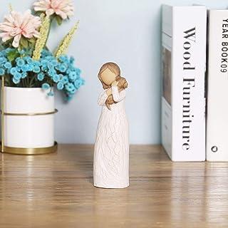 BJSM Dog Angel Figurines of Comfort, 6 Inch Hand Painted Pet Memorial Figure - Pet Lost Sympathy Gift