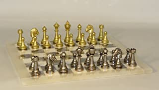 Ital Fama-Scali Chess Set with Alabaster Board - 70M-MGY