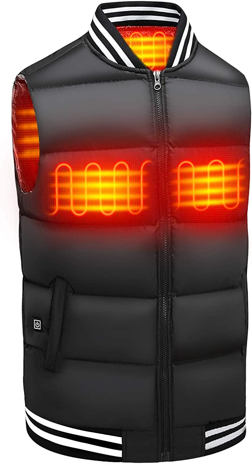 Heated Vest for Men Women, Electric Warming Vest Jacket with 5 Heating Zones (Battery Not Included)