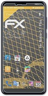 atFoliX Skärmskydd är kompatibel med Nokia 3.1 Plus Skyddsfilm, antireflekterande och stötdämpande FX Film (3X)