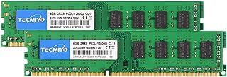TECMIYO 8GB Kit (2X 4GB) DDR3L-1600 UDIMM, DDR3 Ram 4GB 240-Pin Non ECC Unbuffered 1.35V/1.5V CL11 Dual Rank Desktop Memor...