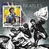 Sammelbare Briefmarken - Beatles 50th Anniversary Blech mit Ringo Starr MNH Imperforate Block/Zentralafrika / 2014 -