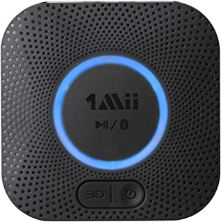 [Upgraded] 1Mii B06 Plus Bluetooth Receiver, HIFI Wireless Audio Adapter, Bluetooth 5.0 Receiver with 3D Surround aptX Low Latency for Home Music Streaming Stereo System