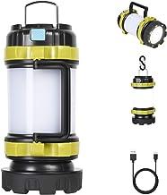 flintronic Led-handlamp, 1000 lm, oplaadbare led-handlamp, IP64 waterdicht, zoeklicht, 3600 mAh acculamp, powerbank met 4 ...
