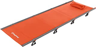 KingCamp Folding Camping Cot Lightweight Compact Portable Outdoor Bed Comfortable Sleeping Cots for Adults&Kids, Fits Sing...