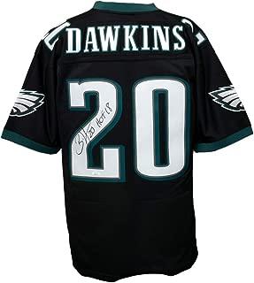 Brian Dawkins Signed Philadelphia Eagles Black Mitchell & Ness Jersey HOF 18 JSA