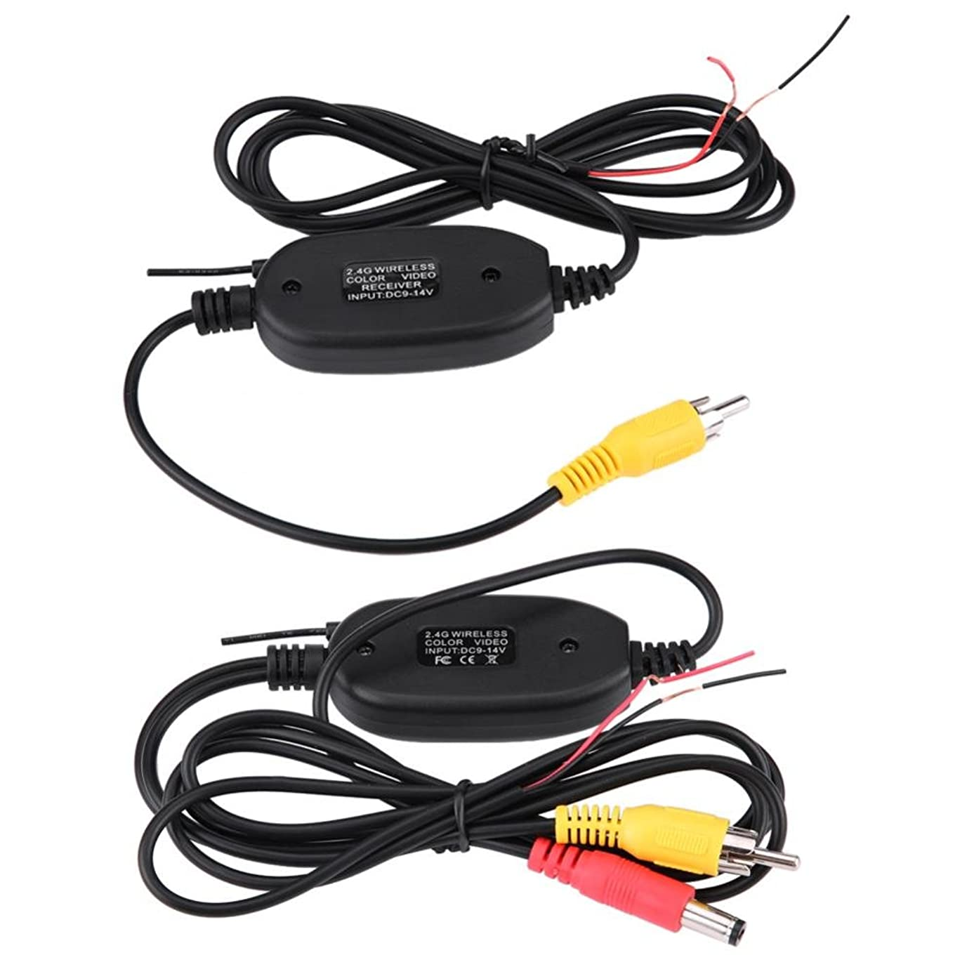 Transmitter Receiver, RCA Video 2.4Ghz Wireless Transmitter Receiver Kit 200mA Remote Controller Transmitter for Car Parking Backup Camera Monitor System
