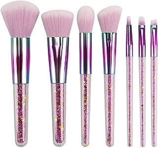 XIANGBAO Makeup Brushes Makeup Brush Set Crystal Sparkles Blush Powder Fan Lip Eye Shadow Eyebrow Eye Blender Brush in Set Durable (Color : 01, Size : Free)