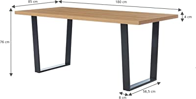 BAÏTA Table à Manger, Bois, L180cm
