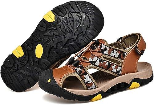 Herrenmode Sandalen Casual geschlossene Zehe Atmungsaktive Elastische Lace Up Dekoration Camouflage Muster Haken & Schleife Freizeit Schuhe Outdoor,Grille Schuhe