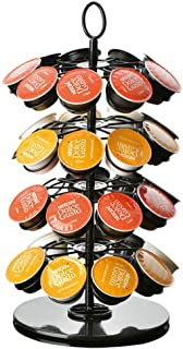 Beauenty 360 Degree Rotating Coffee Capsules Holder Coffee Pod Stand for max 36Pcs K-CUP/Dolce Gusto/Caffitaly Capsules